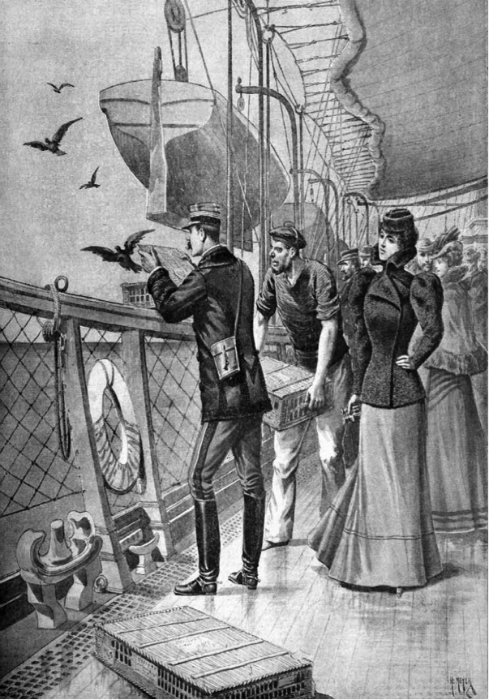 Попытка передать сообщение с помощью почтовых голубей, 1898 г